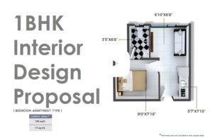Crystal Xrbia Chembur Central 1BHK Interior Design Proposal
