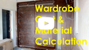Wardrobe Cost and Material Calculation