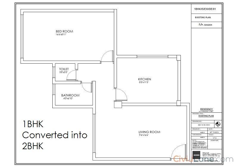 1BHK Existing Floor Plan Layout Vikhroli Mumbai